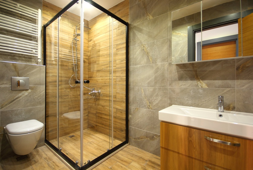 Shower Cabin at the Bathroom